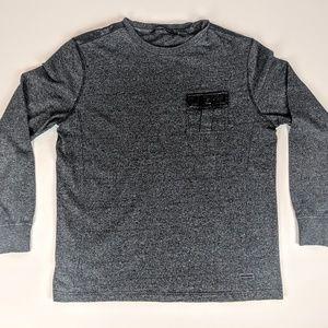 Sean John Long Sleeve Men's Shirt Gray and Black